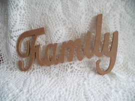 Cadence MDF FAMILY felírat  27x12x0,8cm