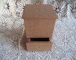Cadence MDF HKT-06 fiókos tégla doboz fedővel 16x16x21cm