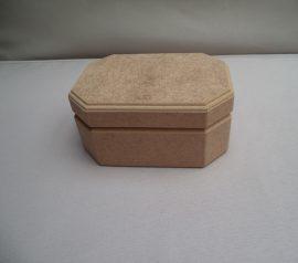 Cadence_MDF nyolcszögletes hosszúkás doboz_kicsi KT16 13,5*9,5*6,5cm