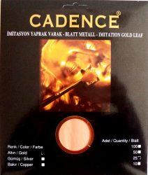 Cadence füstfólia arany 16*16cm 25 db/ csomag