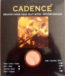 Cadence füstfólia réz 16*16cm 25 db/ csomag