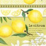 Szalvéta M72432 citrom/olíva