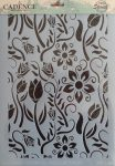 cadence stencil sablon flower kollekció FSC-005 21*29