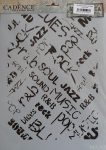 cadence stencil sablon série A4 MA-64  21*29