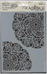 cadence stencil sablon série NBS -006 csipke háttér  15*20cm