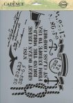 cadence stencil sablon série A4 AS-567 21*29