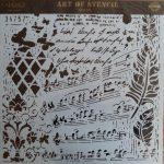 cadence stencil sablon Grunch kollekció GCS-013 45*45cm