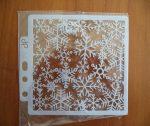 stencil sablon 13*13cm  KD--58  hópelyhek