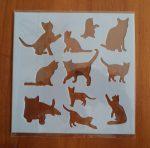 stencil sablon 13*13cm  ST-001 cicák