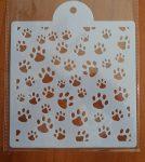 stencil sablon 15*15cm ST-002 kutya / cica mancsok