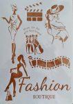 stencil sablon A4 Fashion boutique