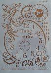 stencil sablon A4 ST-5577 your time