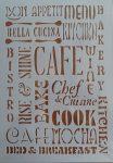 stencil sablon A4 bon appetit, caffe
