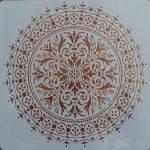 stencil sablon TA-04 mandela  30*30cm
