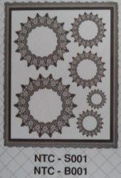 cadence transfer matrica csipkés fehér 25*35cm  NTC-B001