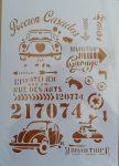 stencil sablon A4  ST-2021-09  retró ww
