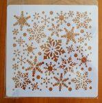 stencil sablon 20*20cm  ST-020 hópehely 1