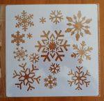 stencil sablon 20*20cm  ST-021 hópehely 2