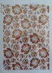 stencil sablon A4 ST-5413 virágos háttér