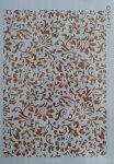 stencil sablon A4 ST-5460 virágos háttér