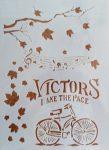 stencil sablon A4 Victors bicikli