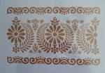 stencil/sablon  A4  népművészeti bordűr 1